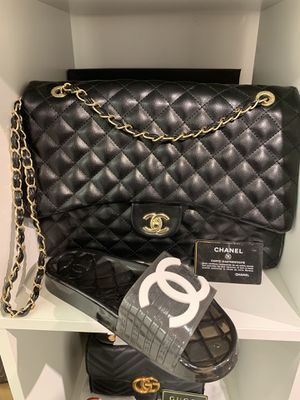 Chanel Slides & Jumbo Hans bag for Sale in King of Prussia, PA