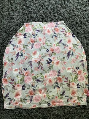 Car seat canopy cover and nursing cover - floral baby girl for Sale in Goose Creek, SC