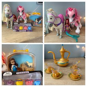 Girls Toys: Tea set, Ponies, Barbie, Doll, farm animals and pet dog for Sale in Chandler, AZ