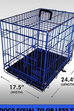 Foldable Dog Crate With 2 Doors - Blue Color for Sale in New York,  NY
