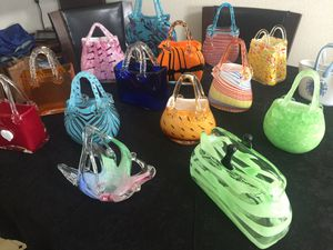 Hand blown glass purses for Sale in Portland, OR