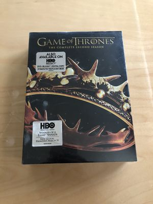(Sealed) Game of Thrones The Complete Second Season (Blu-Ray) for Sale in Springfield, VA