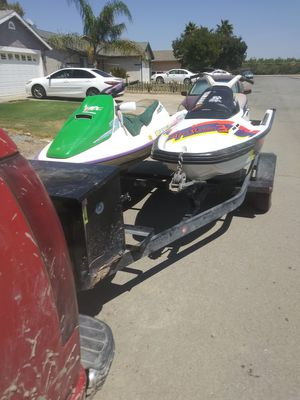 Jet skis .both run.1994 bombardier sea doo. 1993 yamaha wave runner for Sale in Hanford, CA