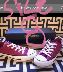 Chuck Taylor converse of Alll velvet Stars In Pink for Sale in Bensalem,  PA