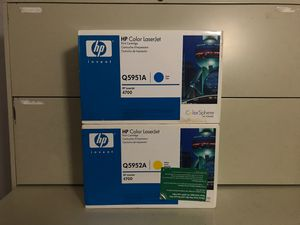 Printer Ink: hp Color LaserJet (CYAN and YELLOW) for Sale in Orlando, FL
