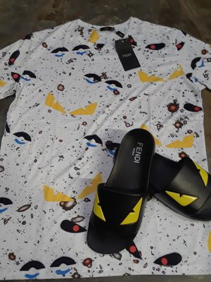 Findi Swagged up shirt with matching slides in size 9 and 10.5 for Sale in Tampa, FL