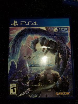 Monster hunter iceborne PS4 for Sale in Aurora, CO