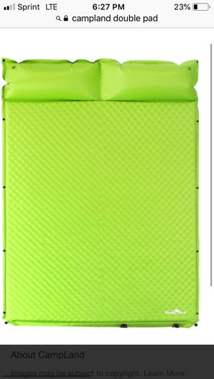 campland double pad sleeping mat for Sale in Bakersfield, CA