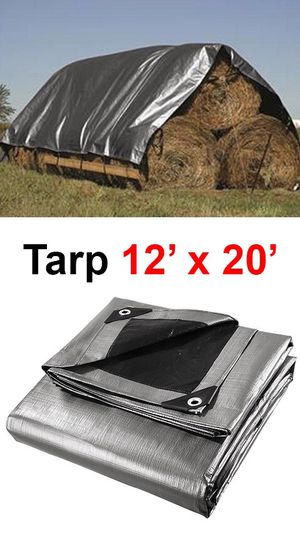 New, $25 Heavy Duty 12'x20' 10mil Canopy Poly Tarp Reinforced Tent Car Boat Cover Tarpaulin for Sale in Whittier, CA