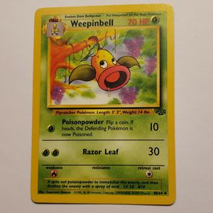1999 WotC WEEPINBELL 48/64 POKÉMON CARD. JUNGLE SET. UNCOMMON. NM for Sale in Santa Ana, CA