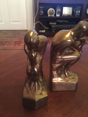 "Solid Brass Midcentury ""The Thinker"" Bookends for Sale in Pomona, CA"