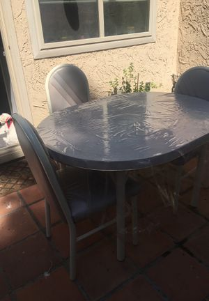I have 3 chairs rod iron real strong. For only 5 dlls a chair. And a table with 3chairs for only40.00 good for as a breakfast or dinnette. Yes for Sale in Chula Vista, CA
