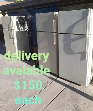 fridge refri refrigerador refrigerator delivered apartment sized stainless whirlpool Samsung fridgidare Kenmore delivery available appliance for Sale in San Bernardino, CA