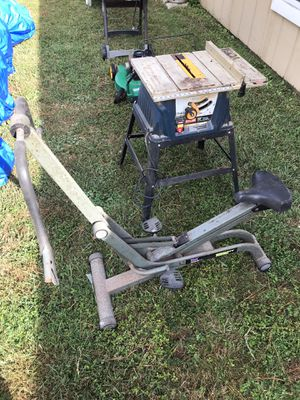 Free mower, grill, glider & table saw for scrap/ parts or refurbishment for Sale in Virginia Beach, VA