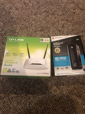 Router and modem for Sale in Seattle, WA