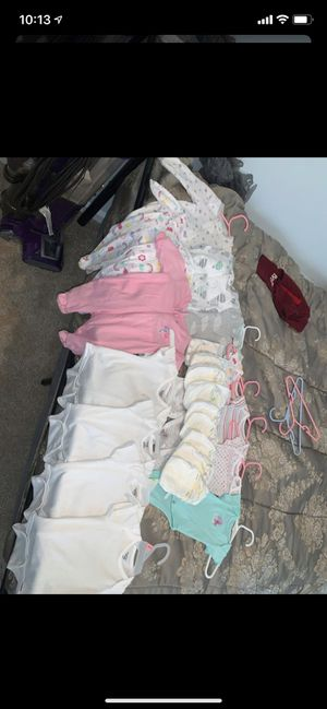 Blowout newborn baby girl clothing lot HUUUGE & FREE DIAPERS for Sale in Virginia Beach, VA