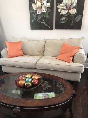 Raymour & Flanagan Sofa, Loveseat and chair. Very good condition. All three $500. Separately $200 each. for Sale in Washington Township, NJ