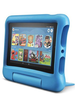 """Like new Amazon fire 7 kids edition tablet, 7"""" display with blue kid proof case for Sale in Sugar Land, TX"""