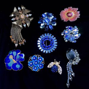 Vintage high quality enamel crystal Brooches Juliana d&e,Johanna Buchanan, w. Germany, Weiss, Avon, for Sale in Alameda, CA