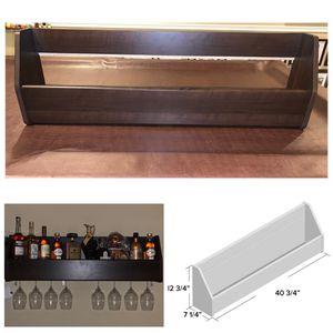 18 Bottle Floating Wall Mounted Wine Bottle & Wine Glass Shelf for Sale in Fort Washington, MD