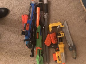 Nerf guns, no ammo for Sale in Boyds, MD