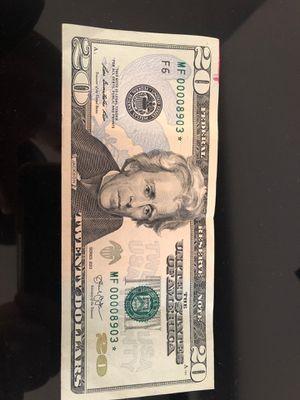 Low serial star note for Sale in Berwyn Heights, MD