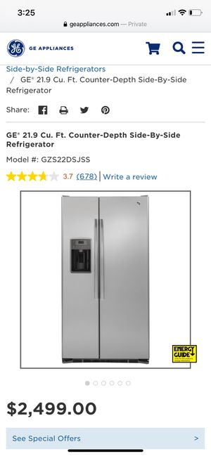 GE 21.9 Counter depth Refrigerator Freezer for Sale in Charlotte, NC