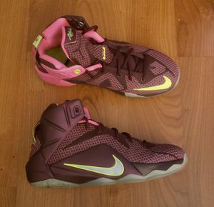Nike Lebron James XII Shoes - Size 5y for Sale in Frederick, MD