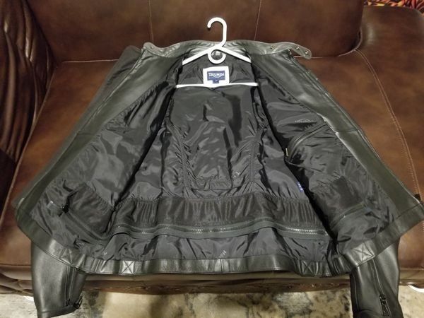 Leather Triumph Motorcycles Cafe Jacket