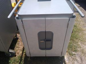 Roll around organizer cabinet Caster wheels on bottom for Sale in Gibsonton, FL