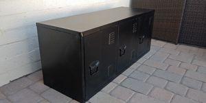 Very Cool Black Metal Locker Type Cabinet TV Stand for Sale in Glendale, AZ