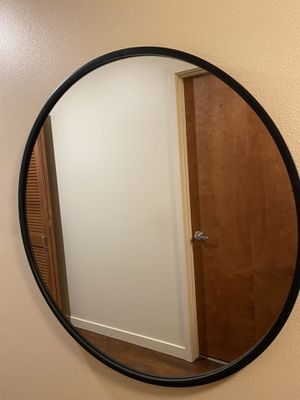 Round wall mirror with rubber frame for Sale in Seattle, WA
