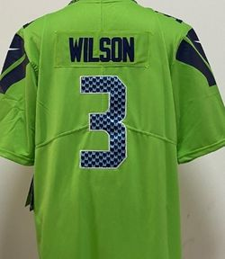 Russell Wilson Color Rush Green Stitching Sewn Jersey #3 for Sale in Boynton Beach,  FL