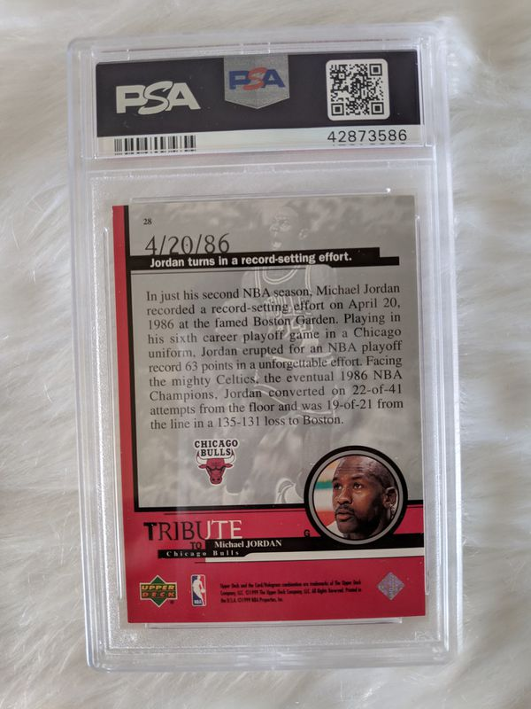 Michael Jordan 63pt Game Graded Card