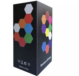 Creative New USB quantum lamp splicing hexagonal wall lamp remote control touch double control colorful wall honeycomb lamp for Sale in Wilton,  CT