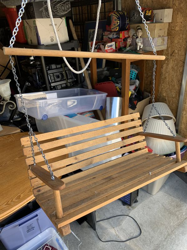 """Mini Outdoor Hanging Porch Swing 14-16"""" Wide DOES NOT SEAT HUMANS"""