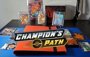 Pokemon Champion's Path 100% COMPLETE MASTER SET + BONUSES! Shiny Charizard V & VMAX for Sale in Puyallup, WA