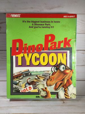 Dino Park Tycoon PC DOS Sealed vintage game for Sale in La Verne, CA