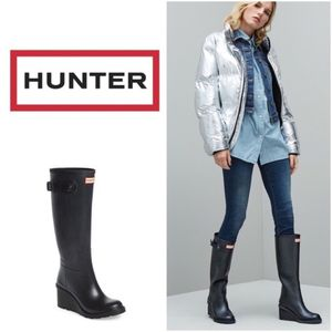 Black Wedge Hunter Rain Boots for Sale in San Diego, CA