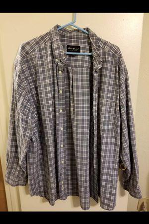Men's Eddie Bauer Plaid Shirt Size XXL for Sale in Abilene, TX