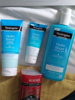 NEUTROGENA HYDRO BOOST LINE AND BONUS OLD SPICE DEODORANT for Sale in Aurora,  CO