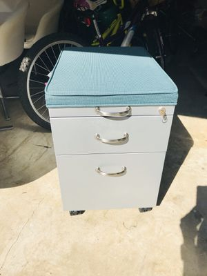 Cushion-topped Filing Cabinet for Sale in Raleigh, NC