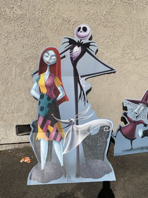 Cardboard cut out plaster nightmare before Christmas 40.00 each for Sale in Anaheim, CA