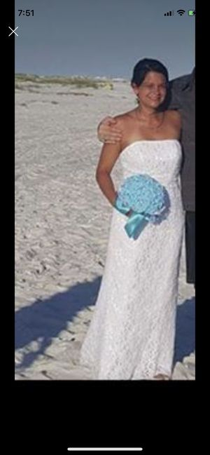 Wedding dress size 6 34c cup with bustle for Sale in St. Louis, MO