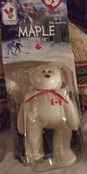 Rare Beanie Baby Maple the bear with 1993 tag and Oakbrook together for Sale in Stockton, CA