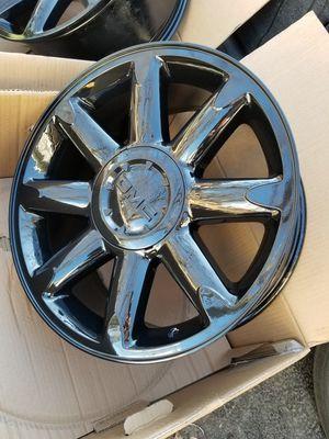 "20"" Gmc Sierra Yukon Denali black stock wheels NEW SET! for Sale in Bolingbrook, IL"