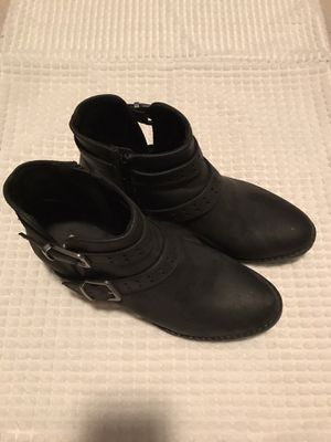 Black leather ankle boots for Sale in Orlando, FL
