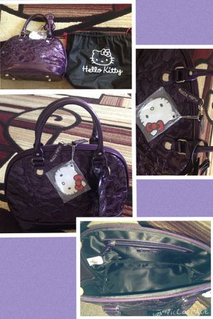 Hello kitty Loungefly purse wallet set purple embossed patented for Sale in Cerritos, CA