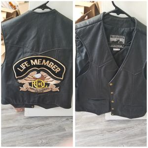 Leather Motorcycle Vest for Sale in Aurora, OR