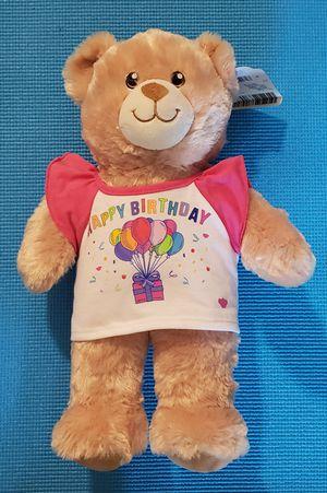 "Build A Bear Lil Vanilla Cub - Red Feet Teddy Bear 15"" With Birthday T-shirt for Sale in Mukilteo, WA"